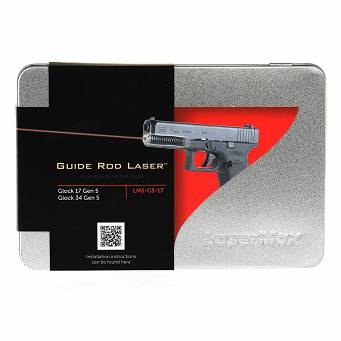 Laser pointer in guide rod , for the Glock 17, 17MOS, 34MOS Gen5 - Red - Lasermax LMS-G5-17