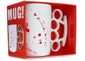 Tough Guy Mug - White bloodied