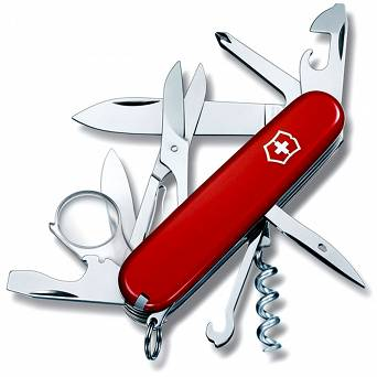 Victorinox Explorer, Medium Pocket Knife With Magnifying Glass