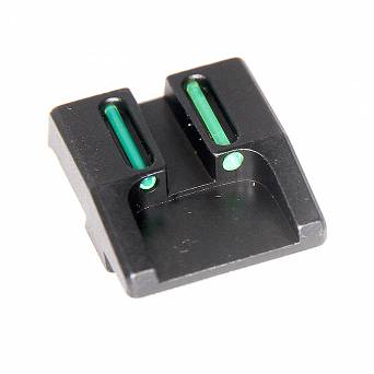 Fiber optic rear sight for XDM