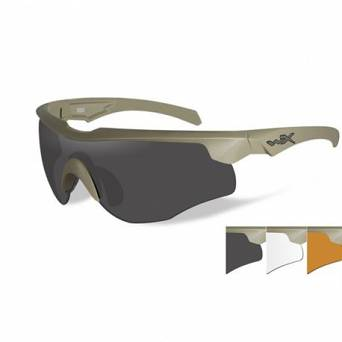 Okulary WileyX Rogue COMM Grey / Clear /Rust Lens 2862/ Tan Frame