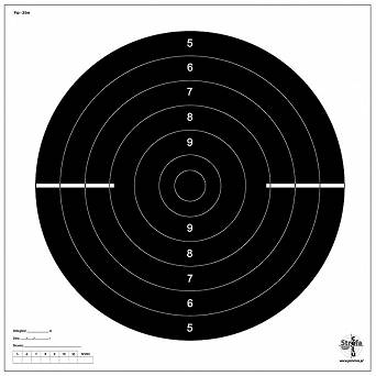 Shooting target, Rapid-fire Pistol , Distance - 25m (Psz-25m) - Ring target - 10 pieces