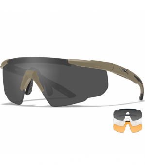 Okulary WileyX Saber Adv. Smoke / Clear  / Rust Lens 308T / Matte Tan Frame