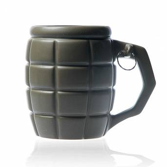 Giant granate mug with dedication - green