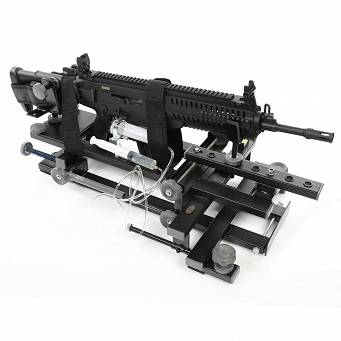 Black Gun shooting rest with double dumper and remote trigger release - Hyskore #30185