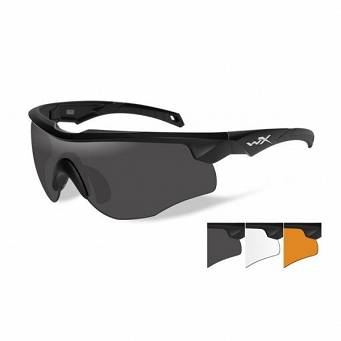 Okulary WileyX Rogue COMM Grey / Clear /Light Rust Lens 2852/ Matte Black Frame