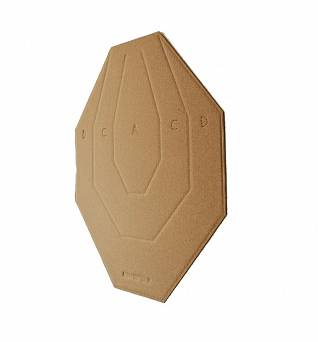 Cardboard shooting target, IPSC, Size : 600x480mm - 1 piece