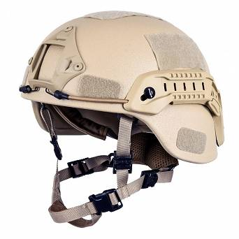MICH Ballistic Helmet with ARC rails and NVGM - size M Coyote - Protection Group DK - 437B - MICH-Coyote-M