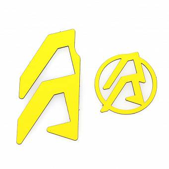 Stickers for holsters Alpha-X LH - Color Yellow, Alpha-X LH Color Inlays - Color Yellow :