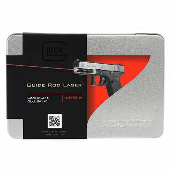 Laser pointer in guide rod , for the :Glock 19, 19MOS, 19X, 45 Gen5 Pistols - Red - Lasermax LMS-G5-19