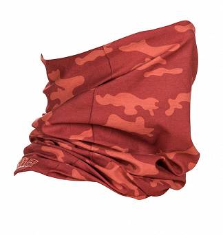 Face Veil by 5.11, Model : Halo Neck Gaiter, Color : Red Snd Camo