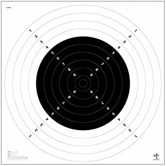 Shooting target ,Centre fire rifle , Distance - 300m (Kcz-300m), - Ring target - 1 piece